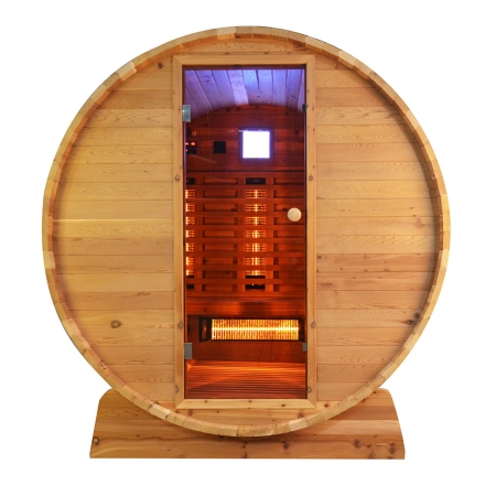 Infra4Health barrel infrarood sauna knotty