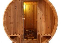 Barrel sauna Knotty