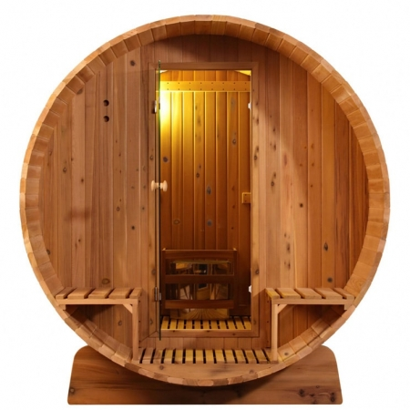 Barrel sauna Knotty