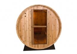 Barrel Sauna Rustic 4 ft. vooraanzicht