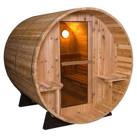 Barrel Sauna Rustic 7+1 ft.