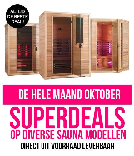 Infrarood sauna actie oktober