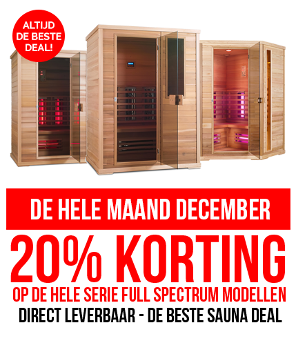 Infrarood sauna december actie