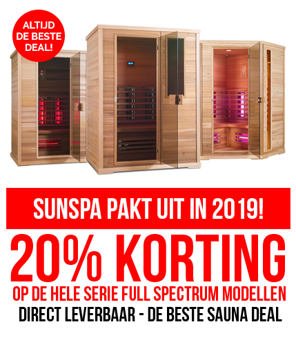 Infrarood sauna actie