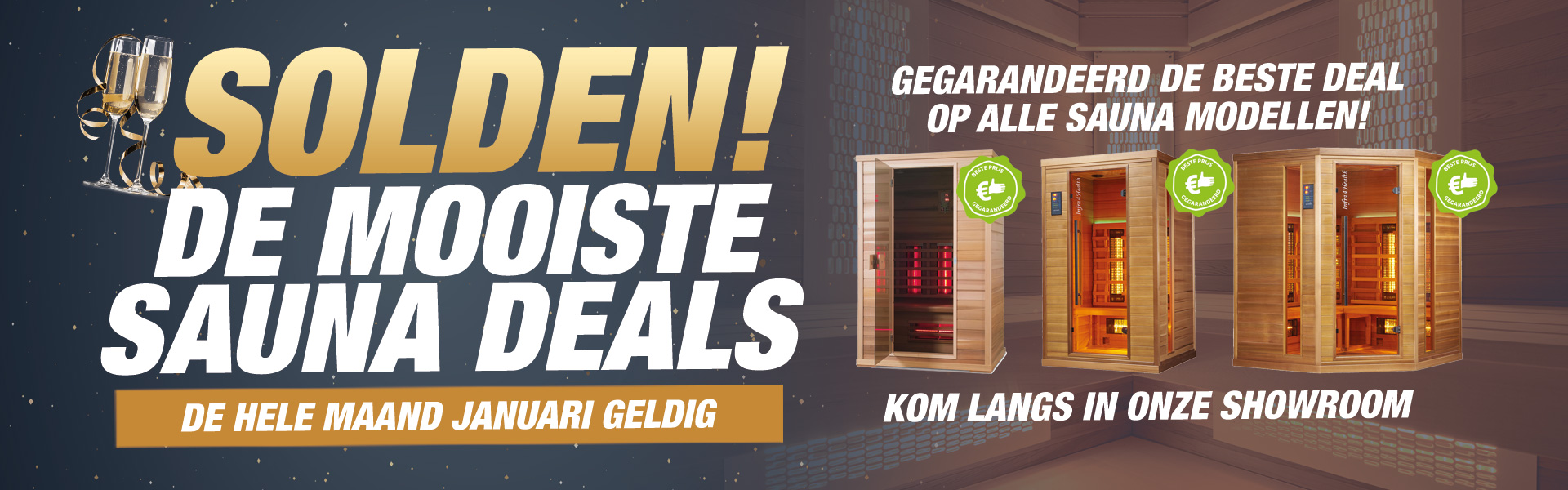 Sauna kopen? Profiteer van onze Solden deals
