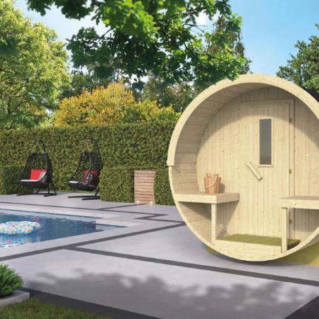 Barrel sauna 400 - Vurenhout