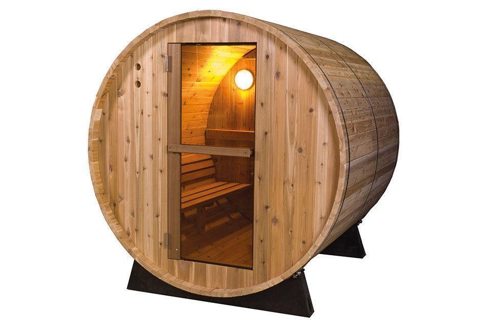 Barrel Sauna Rustic 6 ft.