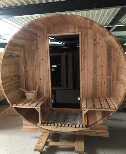 Barrelsauna Infra4Health clear red cedar outlet model
