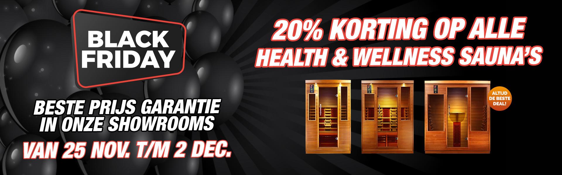 20% Korting Op Alle Health & Wellness Infraroodsauna's