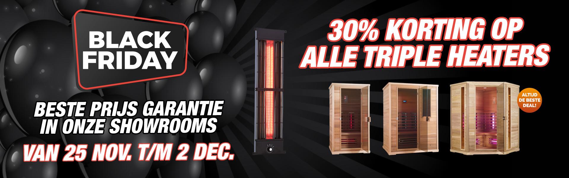 30% Korting Op Alle Triple Heaters Infraroodsauna's